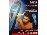 BRAND NEW BAUER PROFESSIONAL RECHARGEABLE CORDLESS HAIR TRIMMER