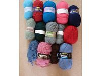 KNITTING YARN - DOUBLE KNIT AND CHUNKY - NEW
