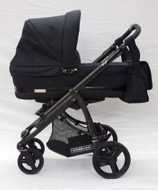 Bebecar IP-OP EL Full Travel System - Imperial Black - Black chassis.