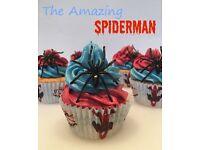 Spiderman - Marvel - Princess - Disney Cupcakes & Cakes - Childrens Kids Birthday - Wedding & More