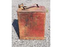Vintage Shell Motor Spirit petrol can