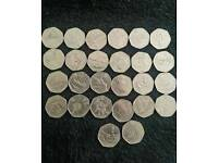 Olympic/paralympic and other 50p coins
