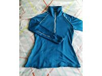 2XU Ladies Micro Climate Zip Thru Run Top (Blue in Size S) in Excellent Condition!