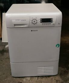 FREE DELIVERY Hotpoint ultima 7KG SENSOR condenser tumble dryer WARRANTY