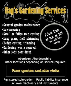 Ray's Gardening Services // Regular lawn mowing, strimming, hedge and tree cutting
