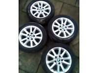 BMW ALLOYS with 4 winter EURO tyres (from main dealer) 16 inch, superb condition