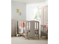 Mamas and Papas Harbour Nursery Furniture Set in putty (pale grey) Great Condition