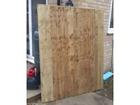 Single closeboard fence panel 6' x 5'