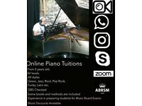 "ONLINE.PIANO & KEYBOARD TUITIONS.22£ 1hr, 15£ half an hour.""Trial lessons available"""