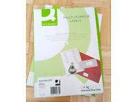 200 x Full Page A4 Labels - 1 Label Per Sheet - Address Printer