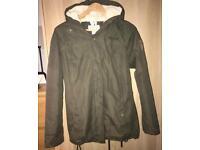 Regatta Khaki Green Fur-Lined Winter Ski Jacket, Size 10, RRP £85!