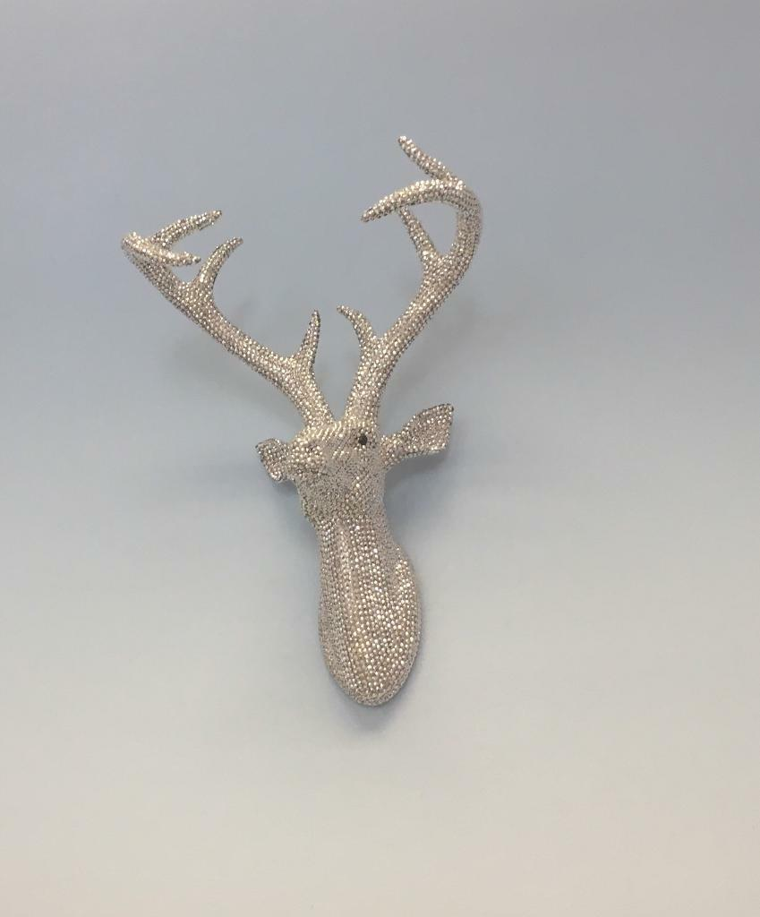 Diamante diamond wall mounted deer stag head wall art hanging diamante diamond wall mounted deer stag head wall art hanging decoration statue amipublicfo Image collections