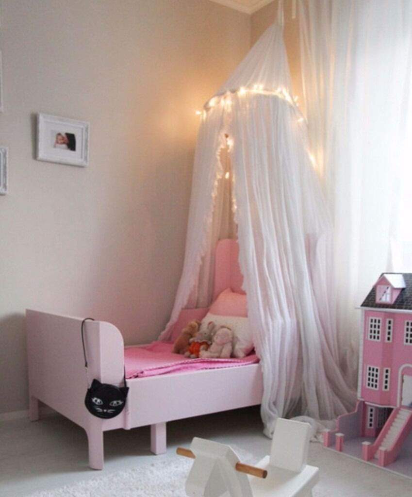 ikea busunge extendable bed and mattress in pink in fishponds bristol gumtree. Black Bedroom Furniture Sets. Home Design Ideas
