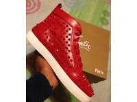 Louboutin leather studded HiTops sneakers