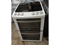 6 MONTHS WARRANTY, BRILLIANT CONDITION Zanussi double oven electric cooker FREE DELIVERY