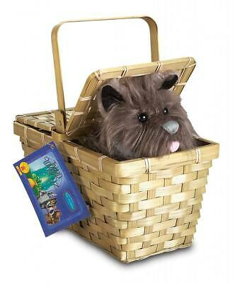 The Wizard Of OZ Dorothy Deluxe Toto Dog Puppy In A Basket Costume Accessory - Wizard Of Oz Toto Dog In Basket