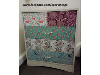 hand decorated chest of drawers