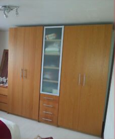 IKEA Bedroom cupboards (set of two and a half cupboards)