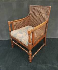 Antique Oak Bergere Armchair