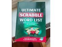 ULTIMATE SCRABBLE WORD LIST HARD BACK BOOK