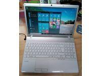 Sony Vaio I3 Laptop, Windows 10, MS Works, 320gb Hard Drive, Wifi, Bluetooth, DVD/RW, Charger