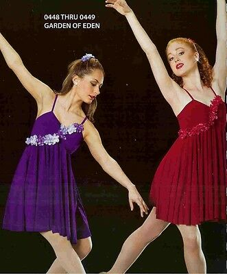 Lyrical Dance Costume Ballet Artstone Dress Skate Garden of - Garden Of Eden Costume