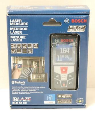 NEW - Bosch GLM 50 CX 165' Laser Distance Measure w/Bluetooth & Color Display