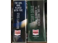 The Girl Who Played with Fire and The Girl Who kicked the hornets nest audio books