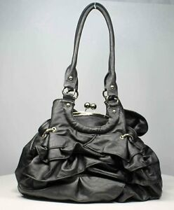 handbag leather lk bag purse shoulder hobo tote satchel flower trendy classic