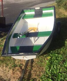 Dingy/Tender boat ,8 foot long on trailer