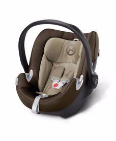 Brand new Premium Cybex Aton Q car seat brown/beige