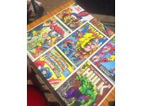 Upcycled marvel superhero table and chairs