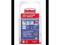 Unibond Wall & Floor Grout Rapid Set Anti-Mould Charcoal x 3 Packs