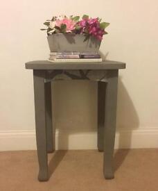 Lovely refurbished side table grey