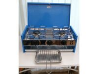 Camping Gaz double burner with grill