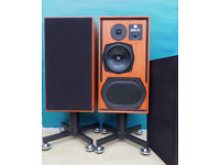 KEF LOUD SPEAKERS 104 REFERENCE TEAK CABINET EXCELLENT CONDITION