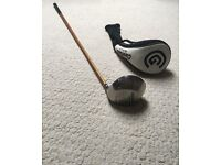 Cleveland Launcher Driver with Cleveland Head Cover, (8.5 degree) Stiff graphite shaft.