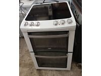 6 MONTHS WARRANTY, BRILLIANT CONDITION Zanussi 55cm, AA energy rated electric cooker FREE DELIVERY