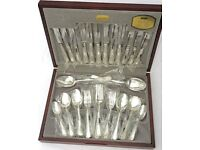 AS NEW - VINERS traditional bead, 44 piece, SILVER PLATED, boxed, cutlery set - used once - £69