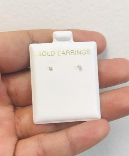 Babies/Infants/Women 10k Yellow Gold CZ Earrings 2mm Stud/Aretes de bebe y mujer