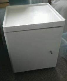 Ikea High gloss Cabinet (side table/bedside/bathroom)