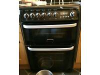 Black hotpoint double oven