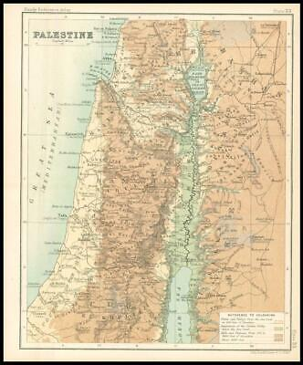 c1912 Map of PALESTINE Chart Regions (BS37)