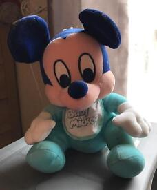 Disney Micky Mouse Baby Teddy Excellent Condition