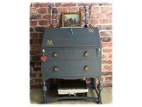 Vintage Shabby Chic Writing Desk Bureau Delivery Avaliable