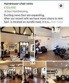 SaVi hairdresser has a chair to rent .