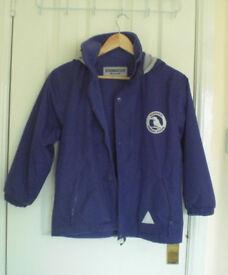 Reversable Girls School Jacket 7/8 years (Sandwood Primary) Purple