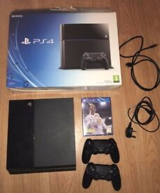 Ps4 500gb + 2 Controllers + Brand New Fifa 18