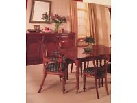 Dining room suite by Waring & Gillow,cherry colour extending table 6 chairs with matching sideboard