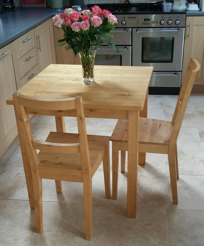 Ikea Breakfast Table: IKEA BJORKUDDEN Table & 2 Chairs